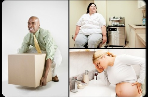 Ожирение, запоры, сидячий образ жизни, физические перегрузки осноные причины заболевания